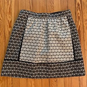JCrew Aztec patterned mini skirt with pockets